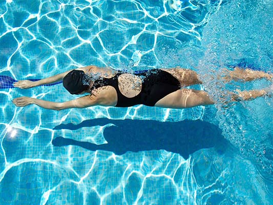 Swimming gives a total-body workout every day, every time
